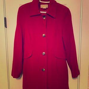 Beautiful Cherry Red wool Michael Kors dress coat